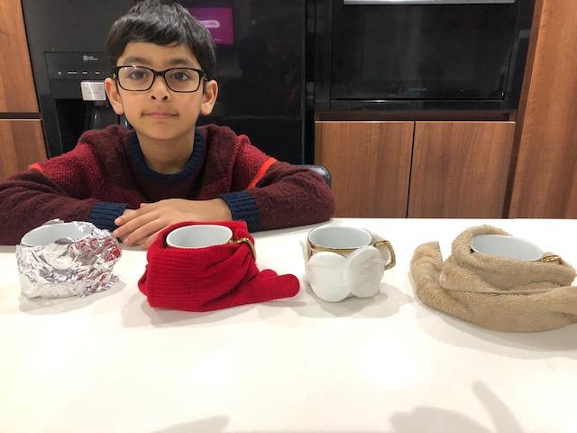 Ali enjoyed investigating different materials