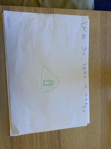 Isobel's sentence work using tricky words
