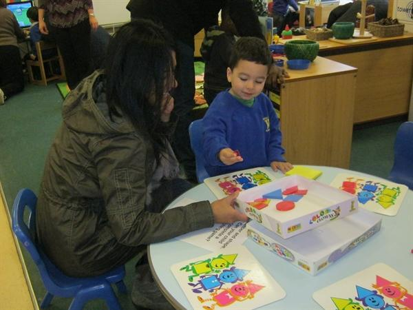 Parents experience an hour in Nursery November '12