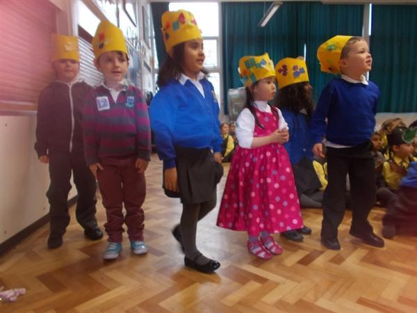 Nursery were amazing in our Spring Celebration