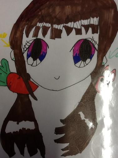 Ella drew this beautiful anime for me🤓