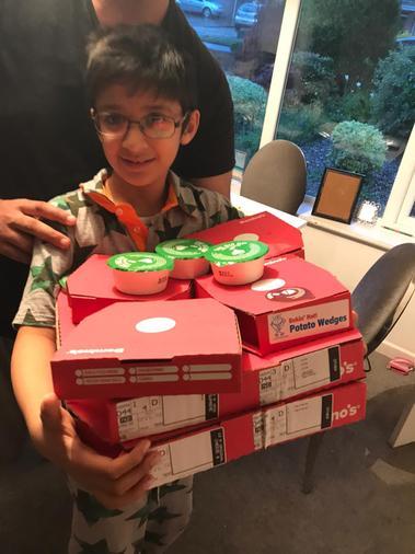 Zayn's treat to break his first fast - yummy!