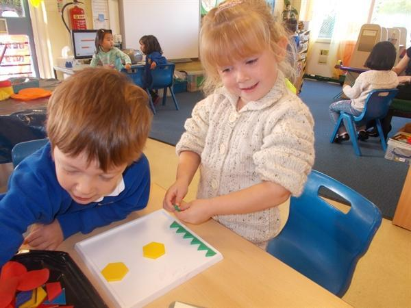 We have been looking at and talking about shapes.