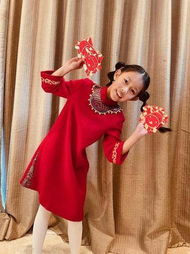 Ella celebrating Chinese New Year