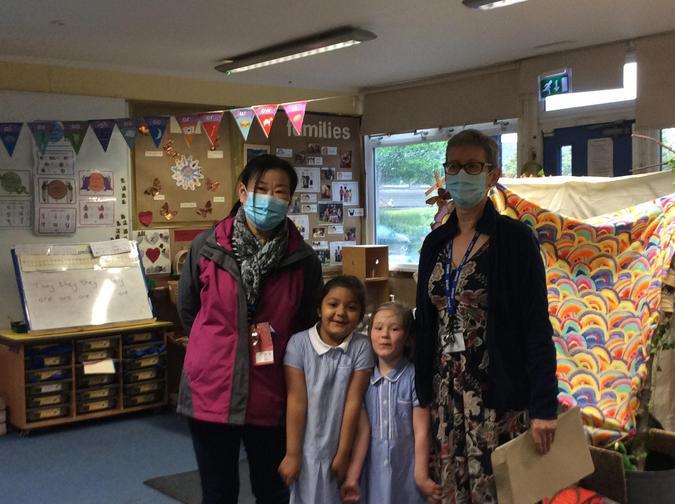 People who help us in school: Mrs Owen and Mrs Maki
