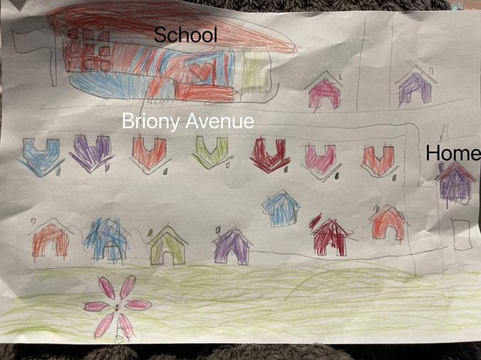 We drew maps of our neighbourhood