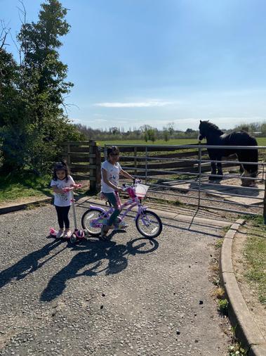 Sumayyah enjoying a bike ride