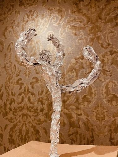 Ella's graceful ballerina foil figure