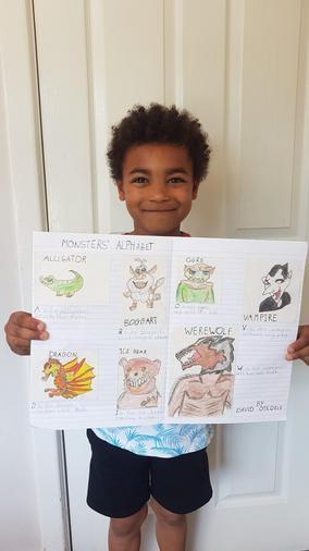 David proud of his amazing work