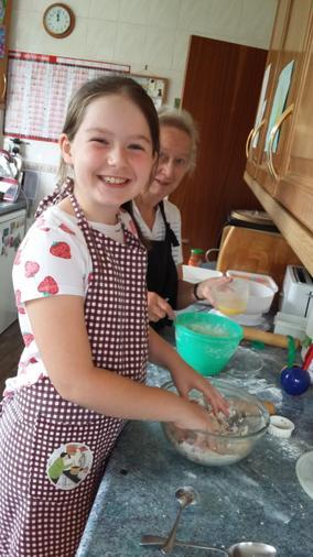 Annabel baking scones