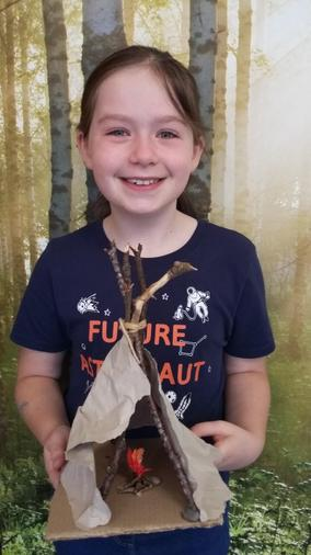 Annabel's mesolithic dwelling - excellent!