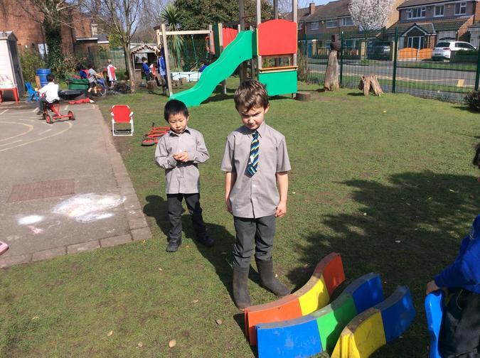 Making AB patterns using PE equipment
