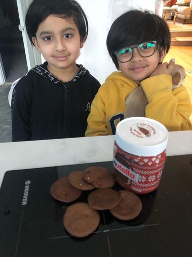 Joban has baked some Nutella cookies - scrumptious!