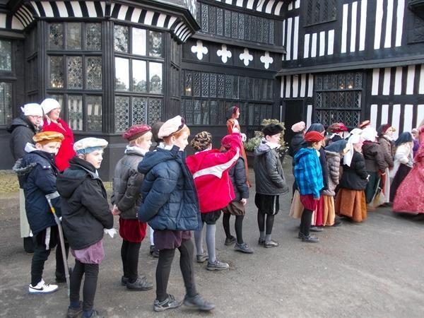 Admiring the Tudor architecture!