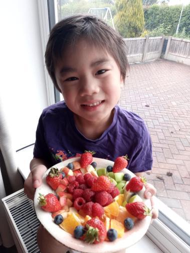 Trinton's scrumptious looking fruit salad
