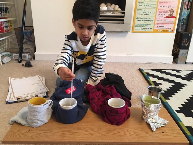 Ishaq enjoyed investigating thermal insulators
