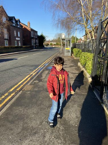 Malik enjoying a walk