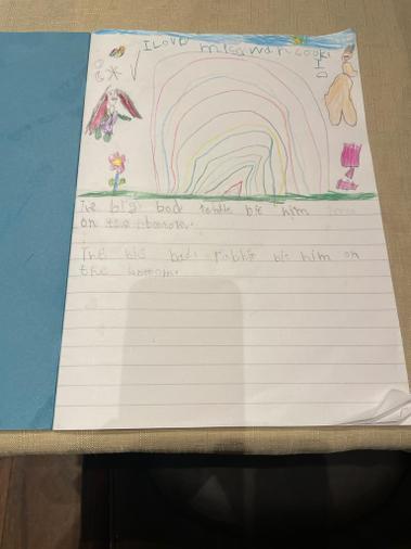 Zainab's writing assessment