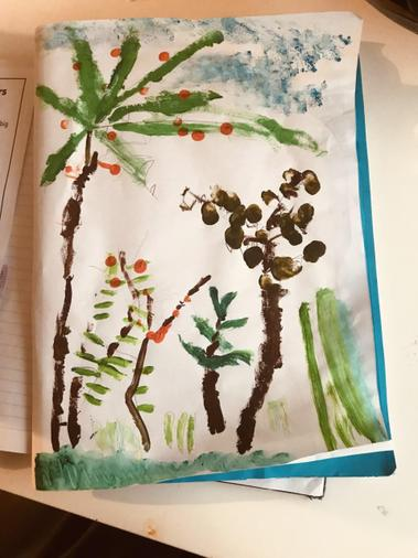 Layla's painting inspired by Henri Rousseau