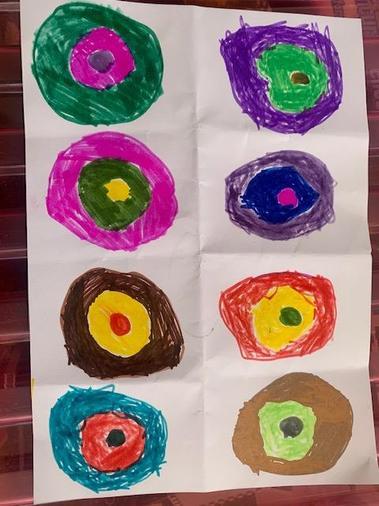 Zakariyya's concentric circles inspired by Kandinsky