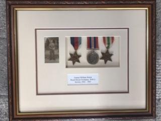 His Grandad's medals!
