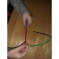 Fine motor skills - bead threading