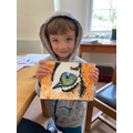 A fantastic painting of a tiger's eye.  Well done.