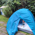 Terrific tent fun in the splendid springtime sun.