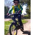 Bike riding in the sunshine.