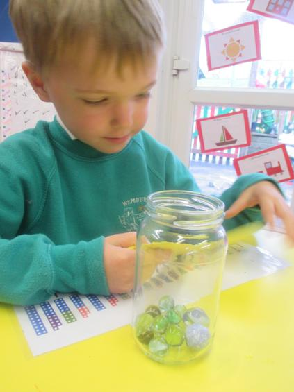 checking the number of marbles