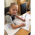Chloe has been a maths superstar!
