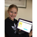 Chloe is keeping up with her book quizzes!