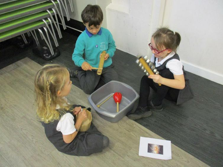 Composing - sounds for a Catherine Wheel