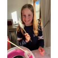 Devon turned making candy floss into an experiment
