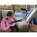 Maya the musician.