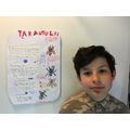 Volodya's been working hard on his project!