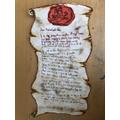 Ethan's Mayflower Letter