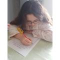 Ellise doing an alphabet hunt!