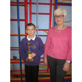 Wesley, the trophy designer with Di Filby