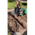 Devon has been busy gardening!