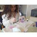Ellise making soap!