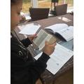 Maya practising her dictionary skills.