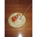 Strawberry Dessert/Basil Ice-cream