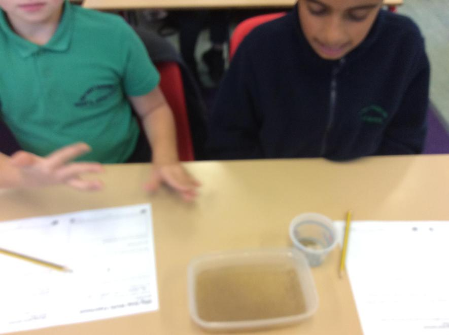 Observe and record what happens when you touch the surface.  Add a drop of fairy liquid.