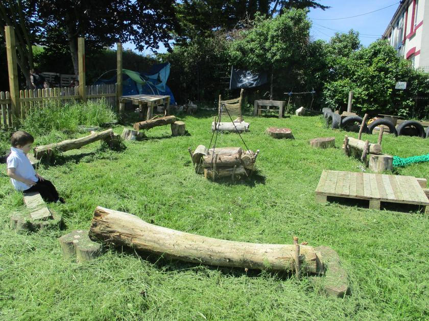Developing our Forest School area.