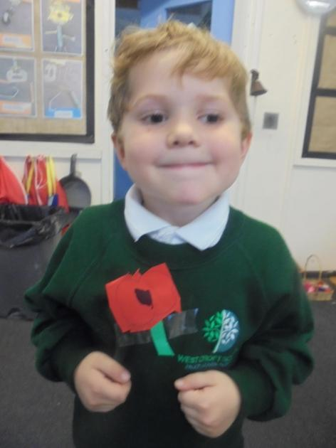 We made and wore our own poppies