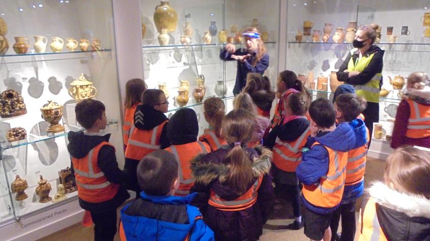 Julian telling us all about the unique clay pottery found in Bideford
