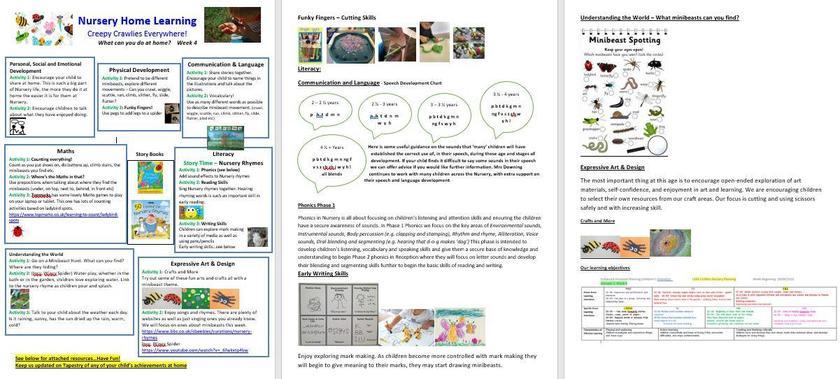 Home Learning Week 4 on Dojo!