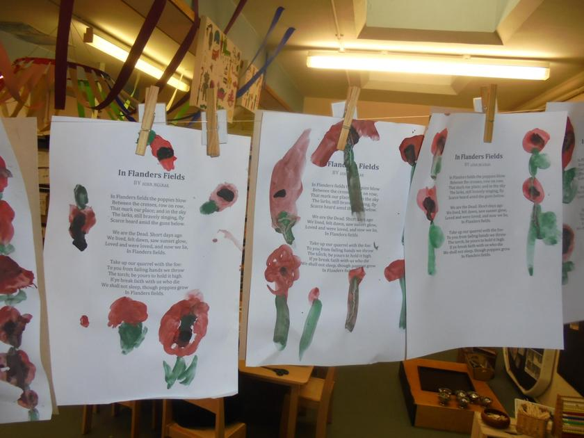 We painted over the Flanders Field poem