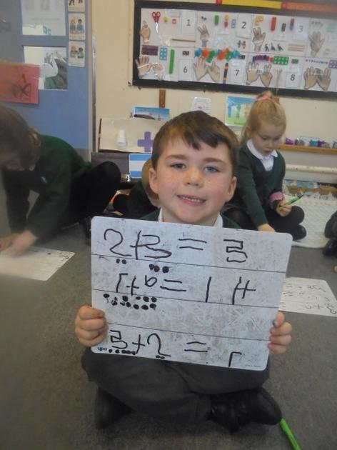 Using dots to help solve our number sentences.